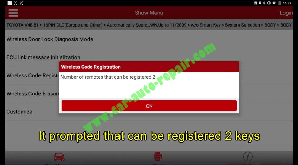 Toyota Crown 2013 Keys & Remote Programming by Launch X431 (18)