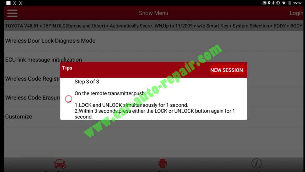 Toyota Crown 2013 Keys & Remote Programming by Launch X431 (20)