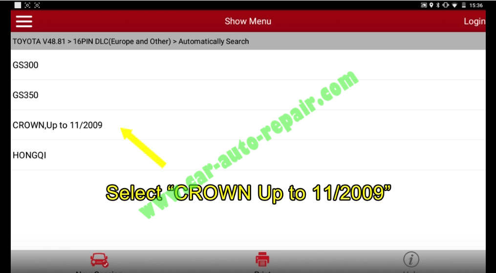 Toyota Crown 2013 Keys & Remote Programming by Launch X431 (4)