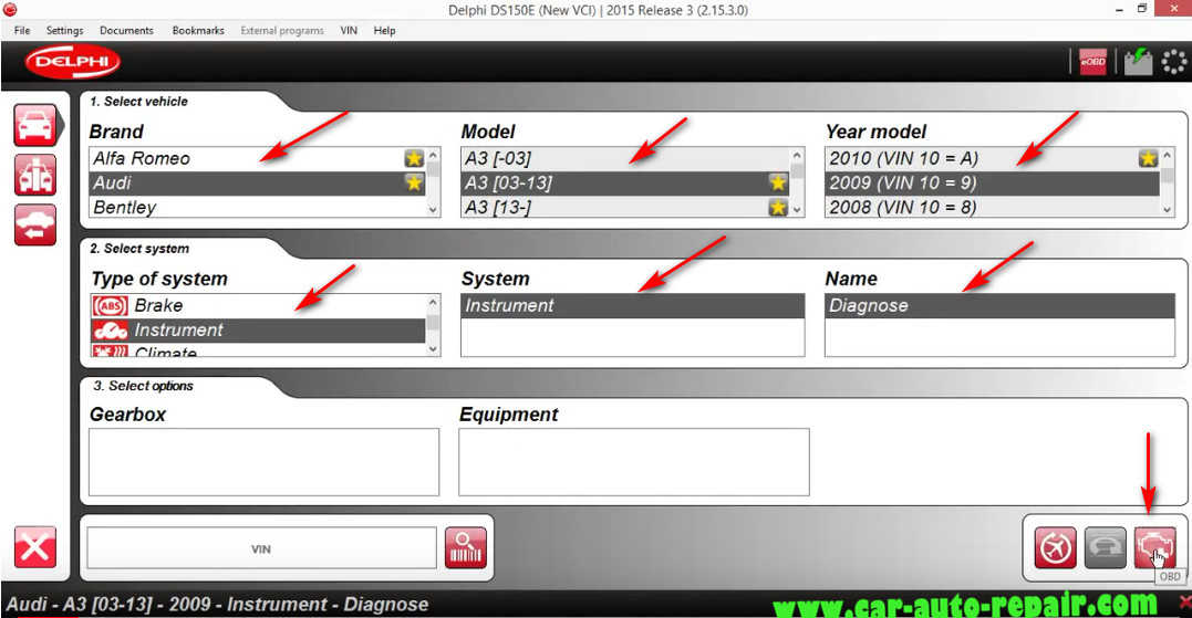 Delphi DS150E Change InstrumentDashboard Language for Audi A3 (1)