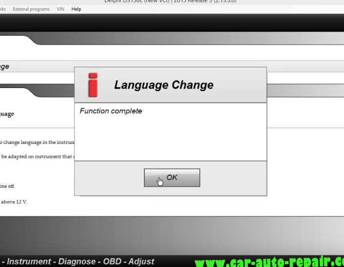 Delphi DS150E Change InstrumentDashboard Language for Audi A3 (10)