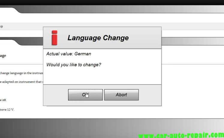 Delphi DS150E Change InstrumentDashboard Language for Audi A3 (6)