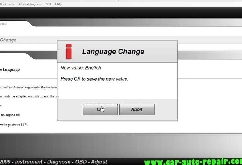 Delphi DS150E Change InstrumentDashboard Language for Audi A3 (9)
