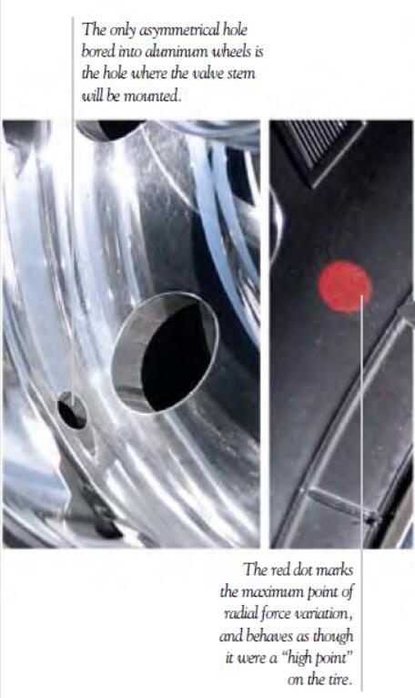 Tires BalanceBridgestone Tires Red & Yellow Dots (3)