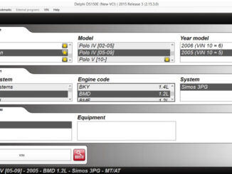 Delphi DS150E VW Polo 2005 ECU Read Time Data (1)