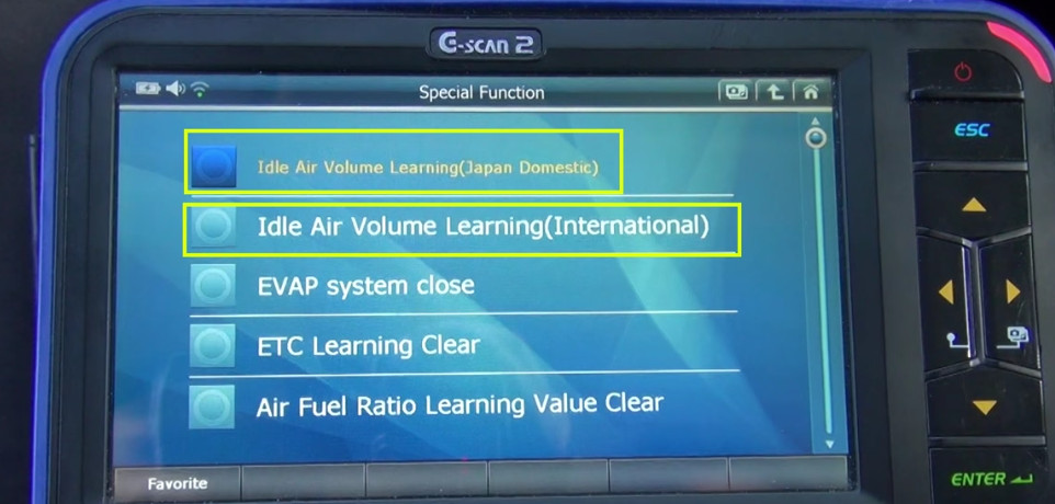 G-scan2 Perform Idle Air Volume Learning for Nissan (10)