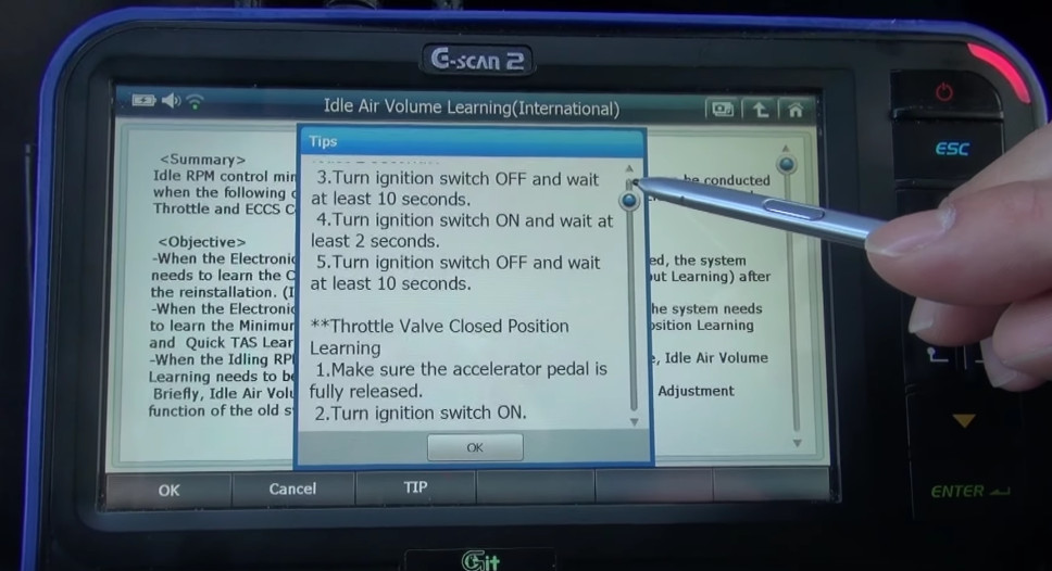 G-scan2 Perform Idle Air Volume Learning for Nissan (12)