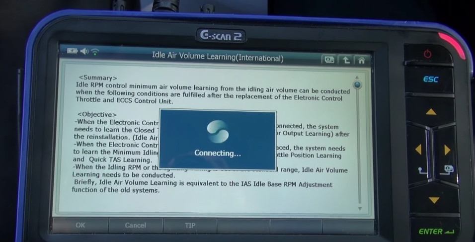 G-scan2 Perform Idle Air Volume Learning for Nissan (14)
