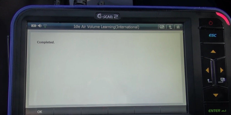 G-scan2 Perform Idle Air Volume Learning for Nissan (15)
