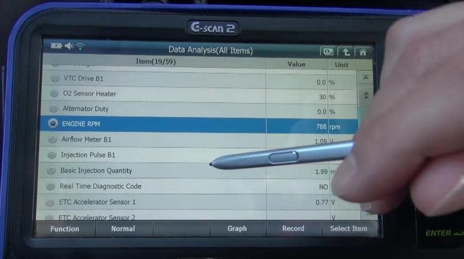 G-scan2 Perform Idle Air Volume Learning for Nissan (7)
