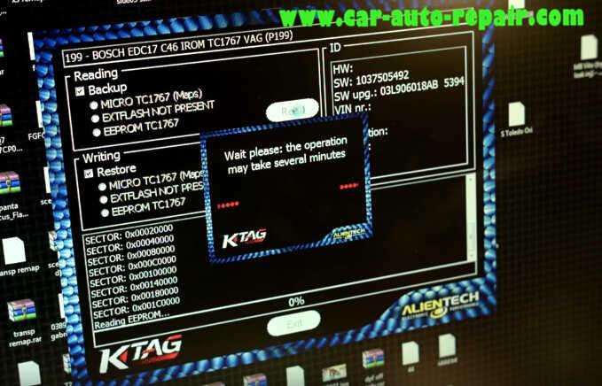 KTAG Read Out Audi BOSCH EDC17 C46 VAG ECU Data (10)