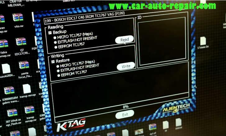 KTAG Read Out Audi BOSCH EDC17 C46 VAG ECU Data (8)