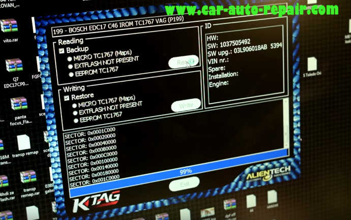 KTAG Read Out Audi BOSCH EDC17 C46 VAG ECU Data (9)