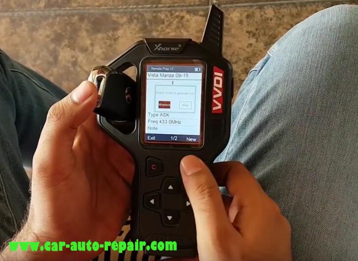 Tata Vista & Manza Remote Programming by VVDI Key Tool (5)