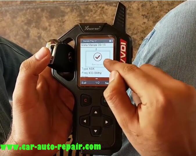 Tata Vista & Manza Remote Programming by VVDI Key Tool (7)