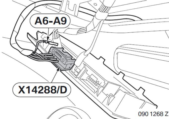 BMW Electrochromatic Interior Mirror with Compass Garage Door Opener (10)