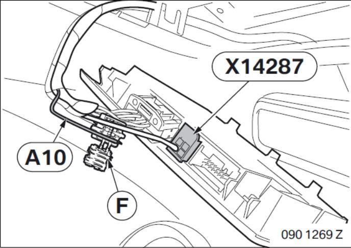 BMW Electrochromatic Interior Mirror with Compass Garage Door Opener (11)