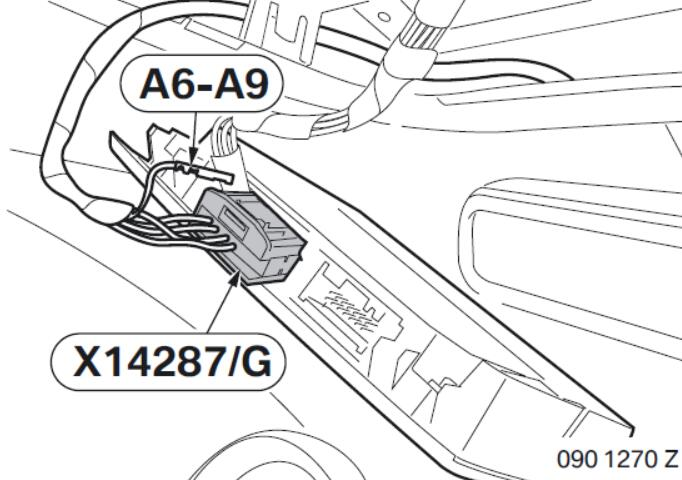 BMW Electrochromatic Interior Mirror with Compass Garage Door Opener (12)