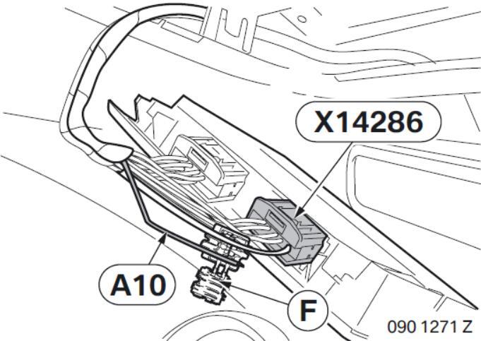 BMW Electrochromatic Interior Mirror with Compass Garage Door Opener (13)