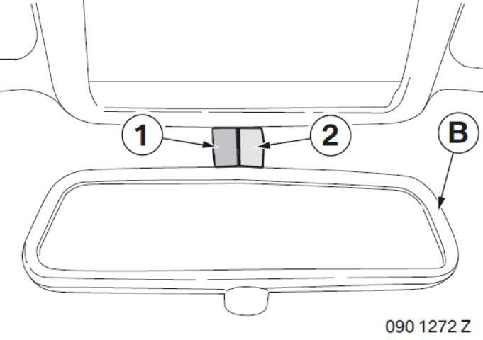 BMW Electrochromatic Interior Mirror with Compass Garage Door Opener (14)
