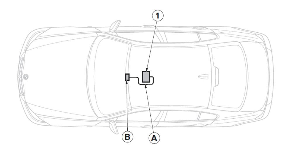 BMW Electrochromatic Interior Mirror with Compass Garage Door Opener (5)