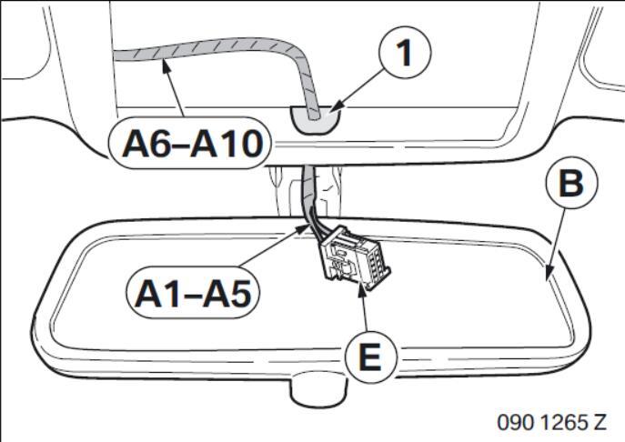BMW Electrochromatic Interior Mirror with Compass Garage Door Opener (7)