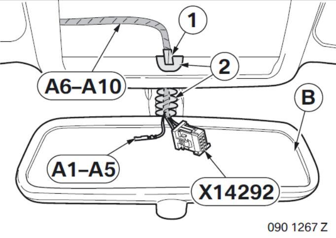 BMW Electrochromatic Interior Mirror with Compass Garage Door Opener (9)