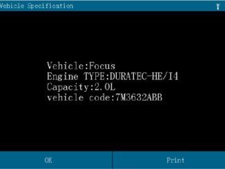 Europe Ford Focus Mileage Programming after Replacement by Launch X431 (2)