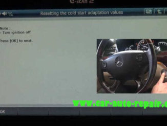 G-Scan2 benz throttle learning resetting the cold start adaptation value (11)