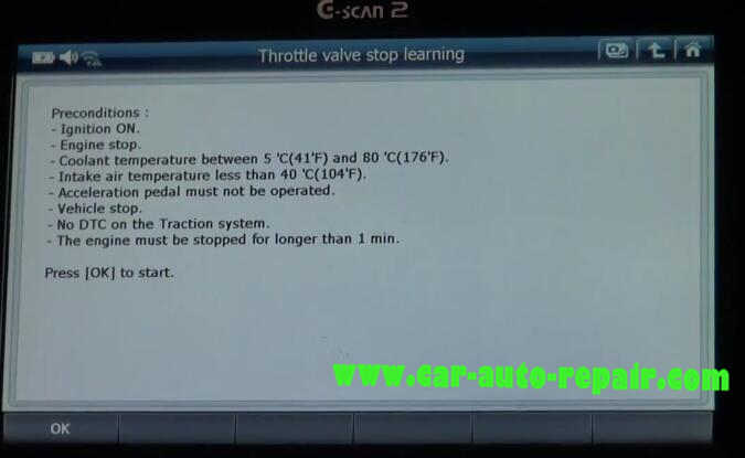 G-Scan2 benz throttle learning resetting the cold start adaptation value (4)
