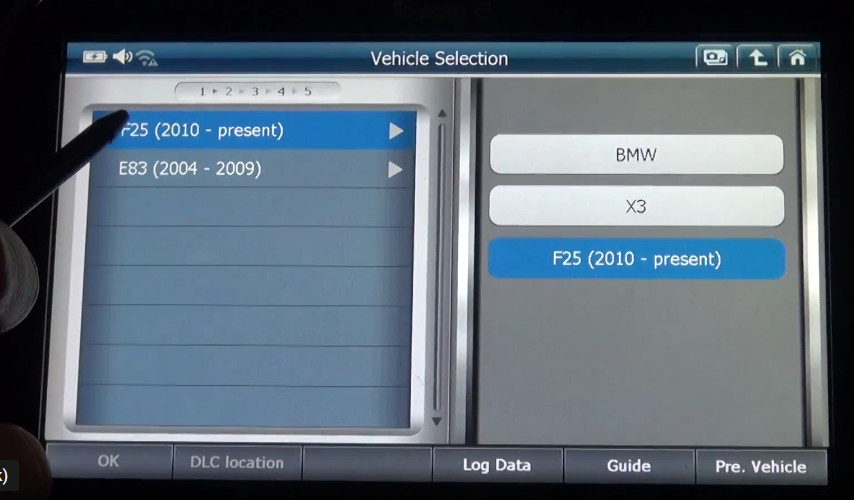 G-scan2 Perform Valvetronic Limit Position Function on BMW