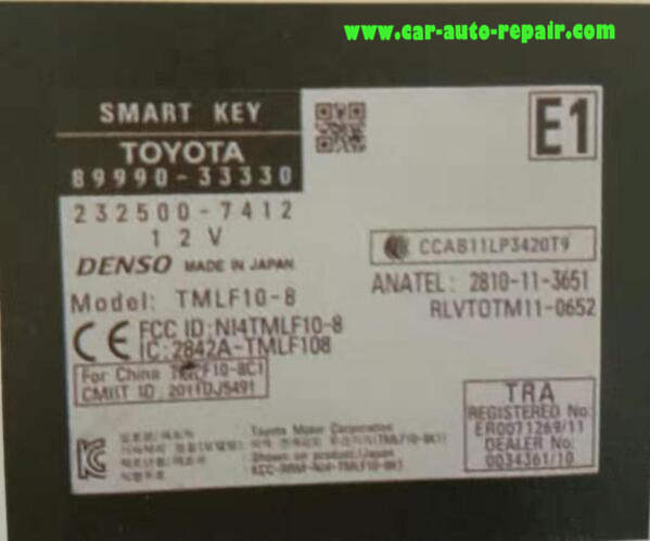Lexus E350 2013 Smart Keys All Key Lost Programming Guide (5)