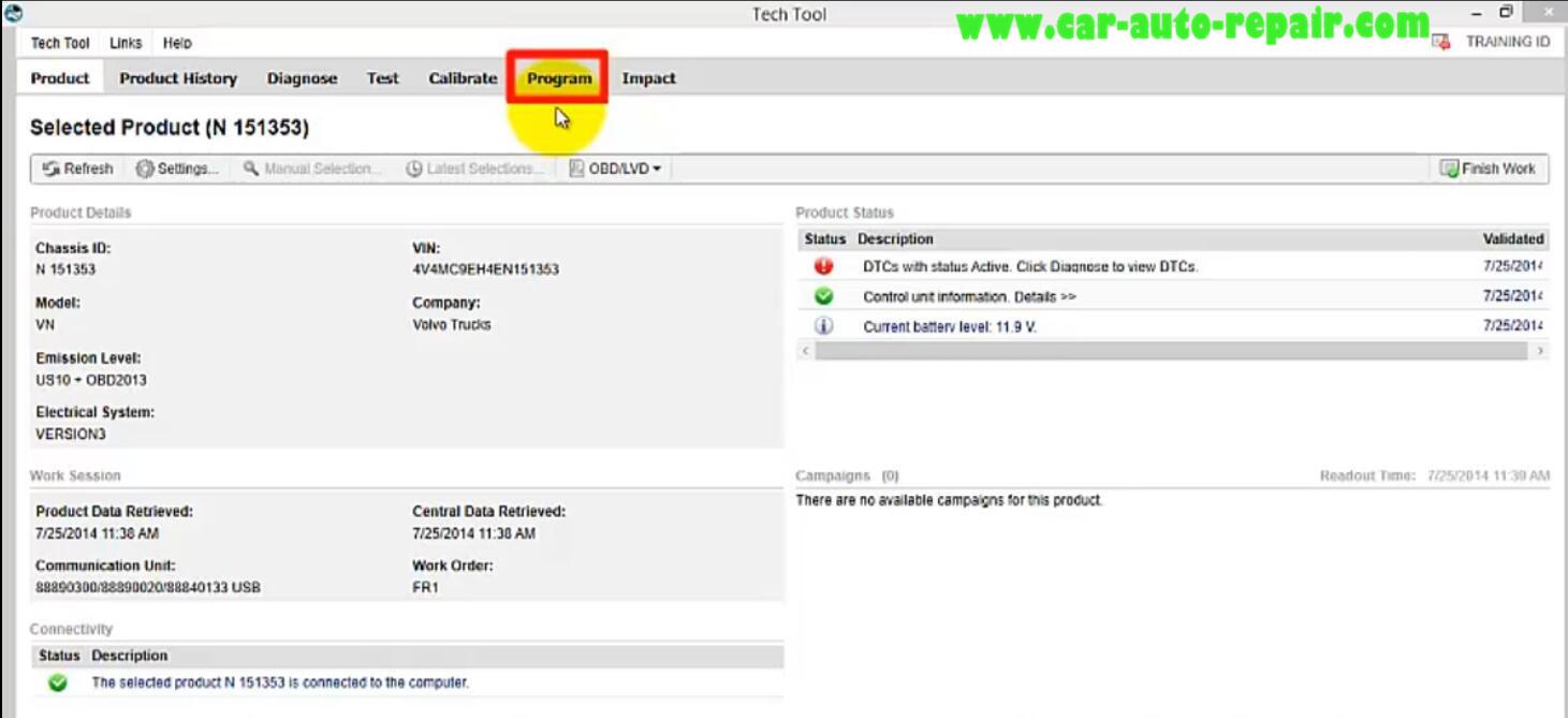 Volvo PTT Change Transmission Performance Mode (1)