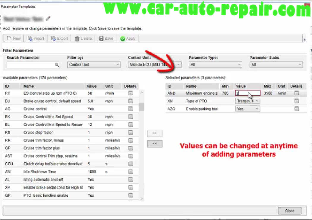 Volvo PTT Perform Newer Parameter Template Programming Guide (16)