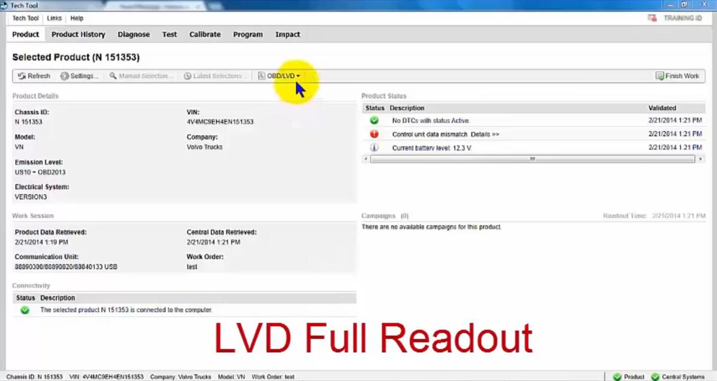Volvo PTT Read Out OBDLVD Parameters (1)