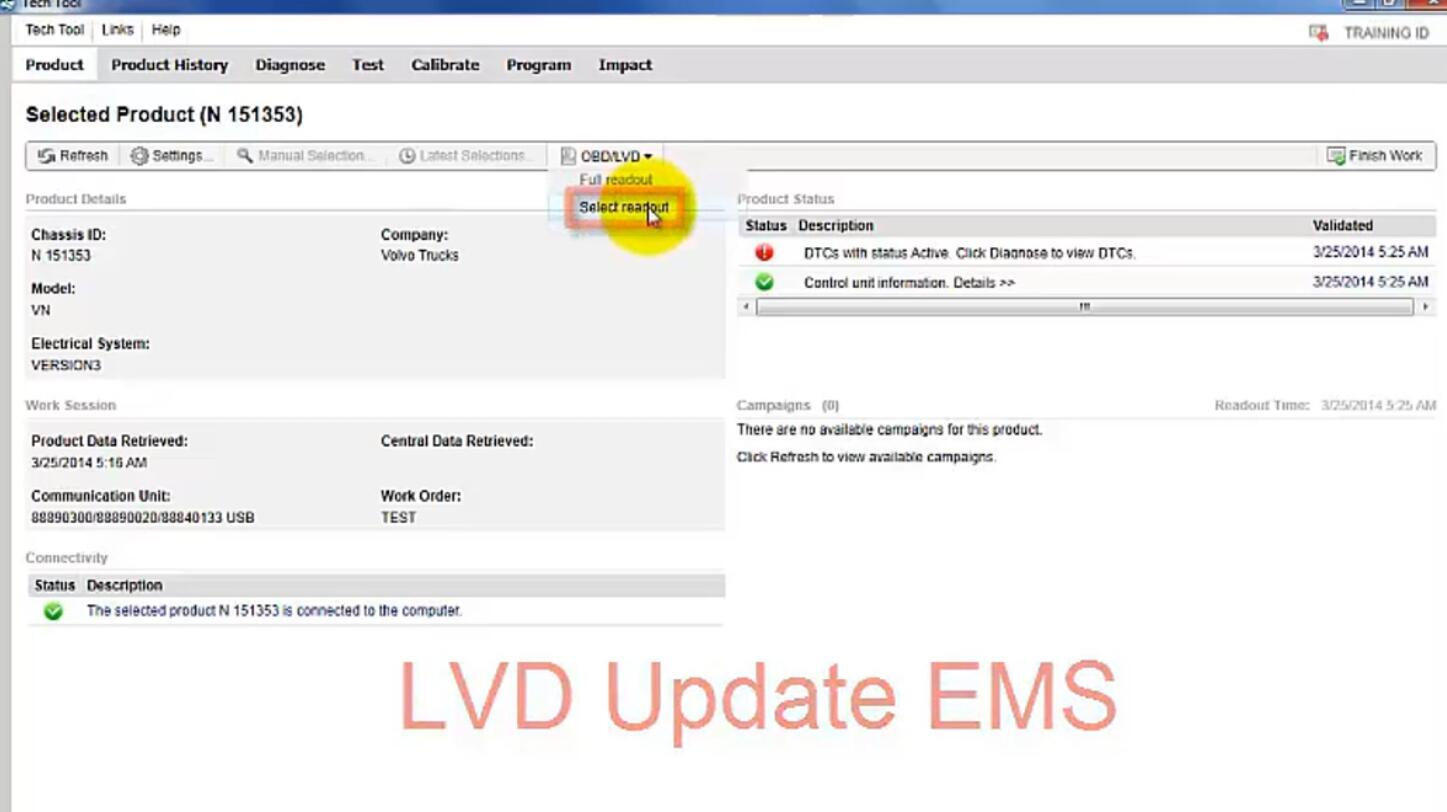 Volvo PTT Read Out OBDLVD Parameters (5)