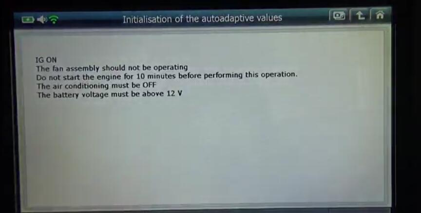 G-scan2 Initialize Adaptive Values for Citroen C3 2017 (7)
