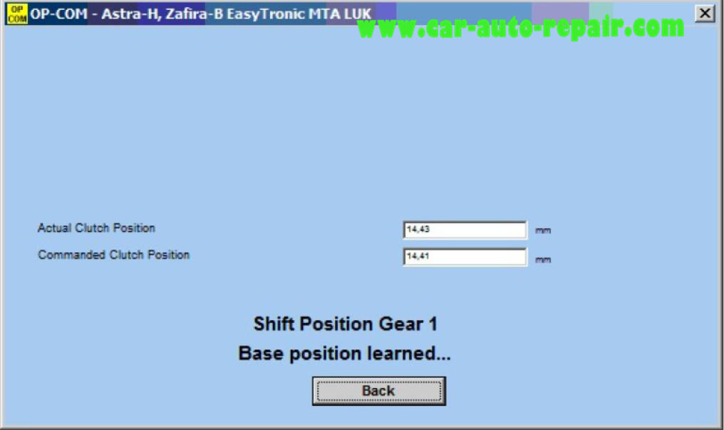How to Use OPCOM to Adjust Clutch & Gear Adaptation Easytronic (6)