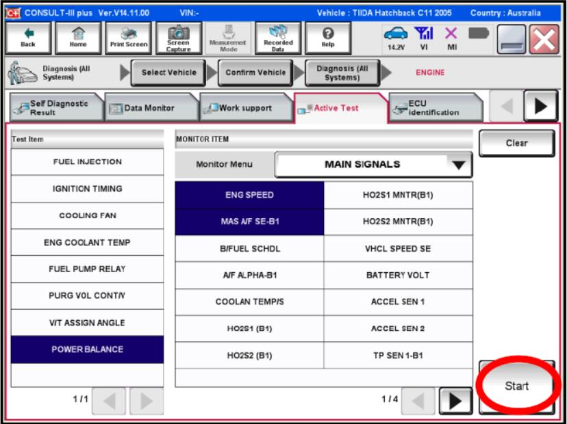 Nissan Consult 3 Plus Active Engine Cylinder Power Balance Test (4)