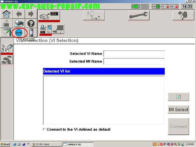 Nissan Consult 3 Plus Diagnos Read DTCs for Infiniti FX3545 2003 (2)