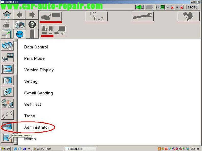 Nissan Consult 3 Plus Diagnos Read DTCs for Infiniti FX3545 2003 (4)