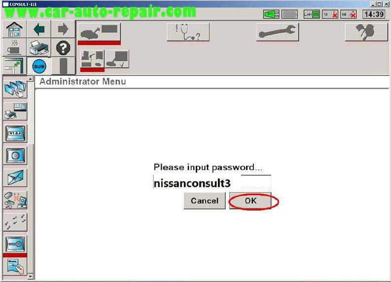 Nissan Consult 3 Plus Diagnos Read DTCs for Infiniti FX3545 2003 (5)