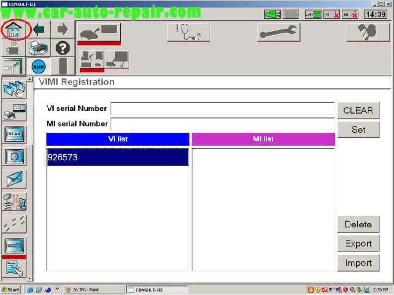 Nissan Consult 3 Plus Diagnos Read DTCs for Infiniti FX3545 2003 (8)