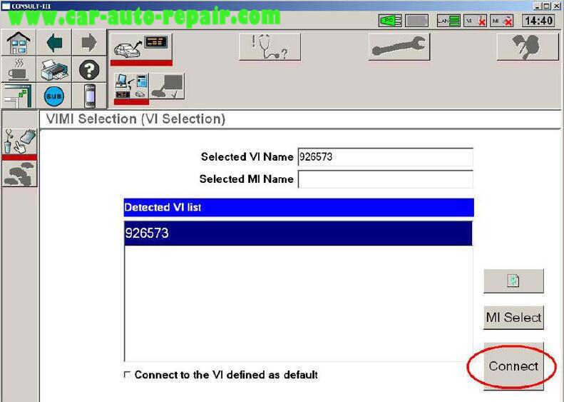 Nissan Consult 3 Plus Diagnos Read DTCs for Infiniti FX3545 2003 (9)