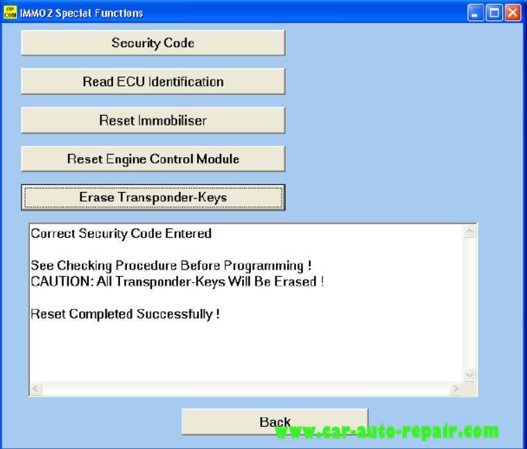 OPCOM Program Immobilizer I II Keys for Opel Guide  Auto