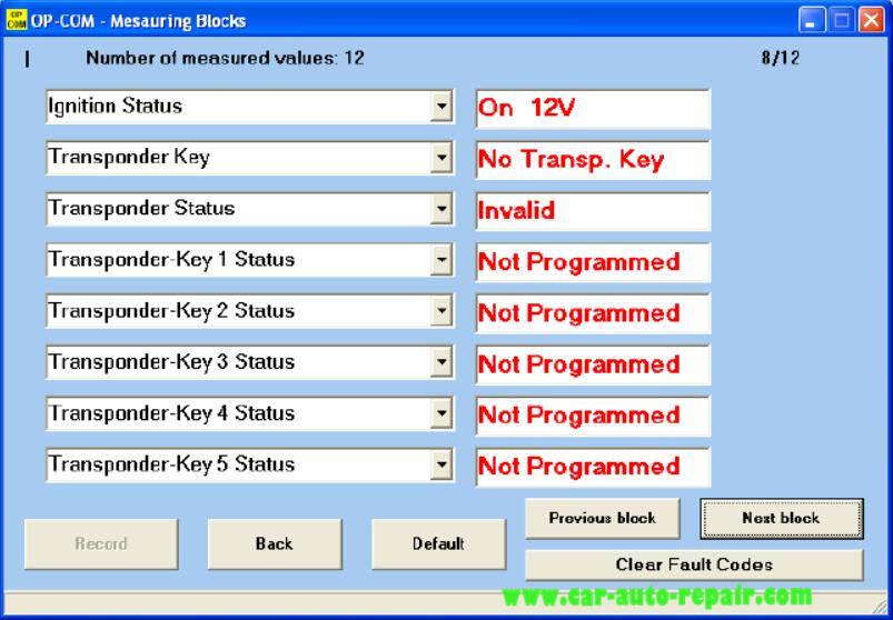 OPCOM Program Immobilizer Keys for Opel Guide (22)