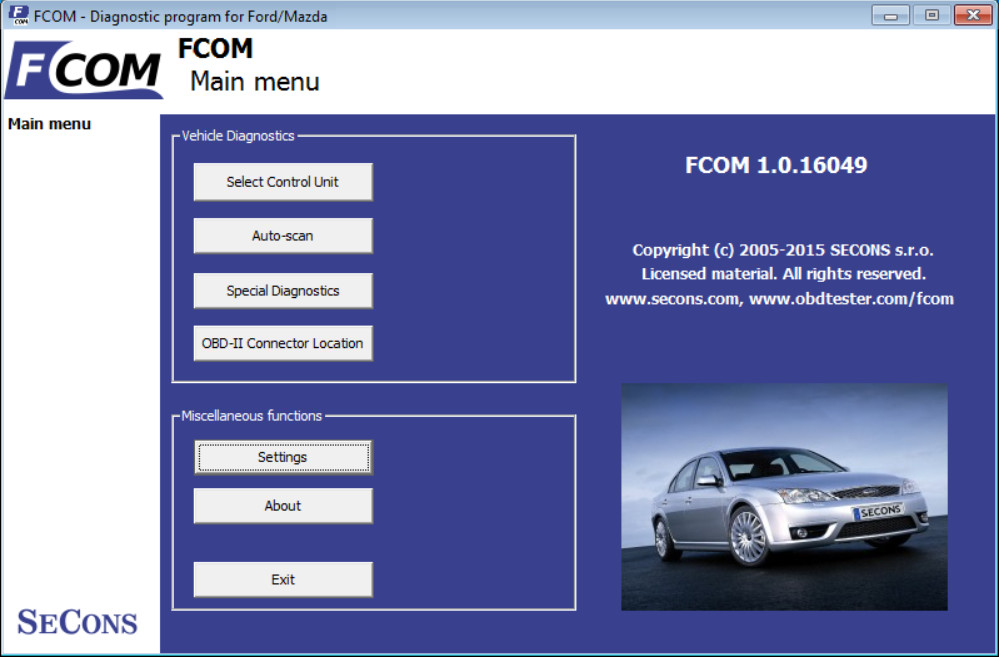 FCOM Ford OBD2 Diagnostic Software Download1