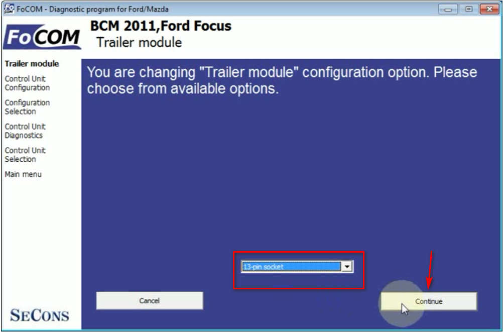 FCOM BCM Trailer Hitch Type Configuration for Ford Focus 2011 (10)