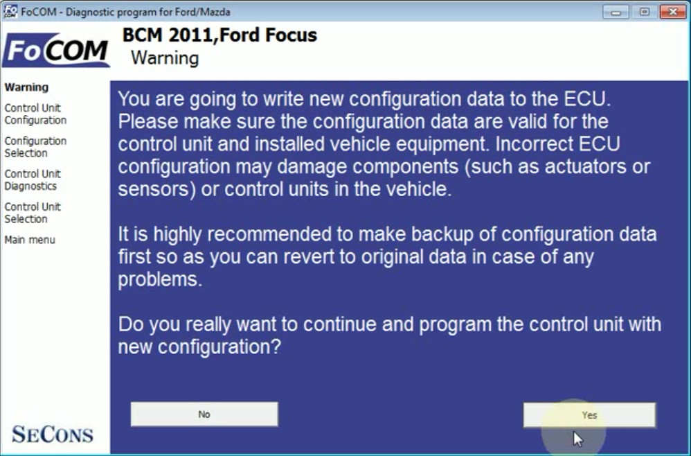 FCOM BCM Trailer Hitch Type Configuration for Ford Focus 2011 (12)
