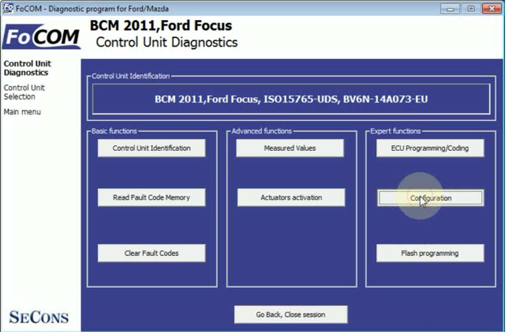FCOM BCM Trailer Hitch Type Configuration for Ford Focus 2011 (6)